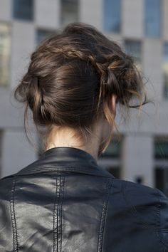 The Lazy Girl's Guide To Summer-Perfect Hair #refinery29  http://www.refinery29.com/no-heat-hair-styling#slide7  For straight hair, try: Braided updoInspiration: Nicole Miller If your natural hair doesn't have a single curl or wave to it, add texture with the right mix of volumizing products and a sneaky braid or two to revamp a lackluster 'do.