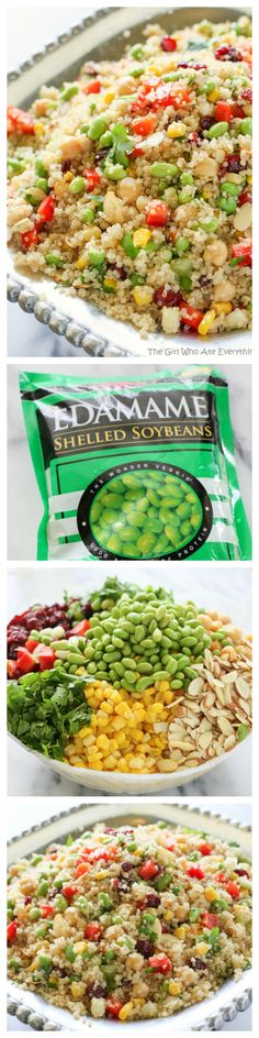 Edamame Quinoa - a light and healthy recipe packed full of super foods. #clean #recipe #healthy #recipes #eatclean