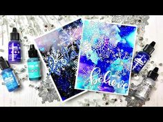 VIDEO Alcohol Inked Backgrounds - YouTube Jessica Frost-Ballas #copic #copics #copicmarker #alcoholink #alcoholinkart www.allthesparkle.com