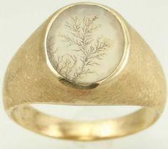 Dendritic agate ring. Lovely!