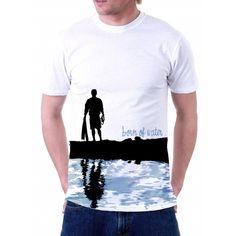 Born of Water Scuba Diving Shirt: Diver Silhouette Shirt - M Scuba Diving Quotes, Silhouette, Mirrors Lyrics, Mens Tops, T Shirt, Water, Photography, Ideas, Moda Masculina