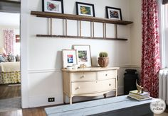 Like the drapery hangers and the ladder shelf.  My Bedroom: Before | Inspired by Charm