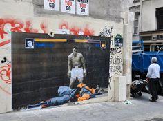 Muhammad Ali and Ryu Street Fighter - Street Art in Paris
