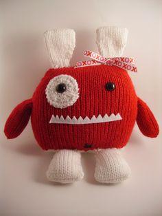 Penelope Hand Knit Stuffed Monster Toy. $30.00, via Etsy.