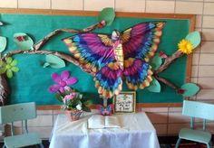 Butterfly and tree bulletin board in the Preschool classroom