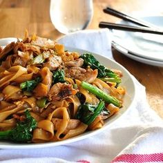 **MADE IT, LOVED IT!! jc** Thai stir fried noodles, a very popular Thai Street food, with chicken and Chinese Broccoli (kai-lan). On the table in 15 minutes.