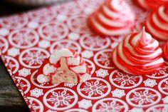 Candy Cane Surprise Meringues