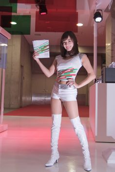 Thigh High Boots, Over The Knee Boots, White Boots, White Jeans, Grid Girls, Thigh Highs, Fashion Boots, Leather Boots, Cute Girls
