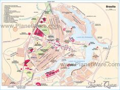 City centre detailed street travel plan with must see places sights