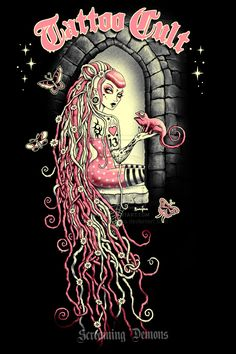Tattoo Cult 11. Rapunzel by ScreamingDemons.deviantart.com on @deviantART