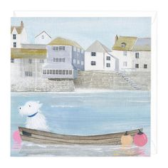SUMMER BREEZE HANNAH COLE WHISTLEFISH HARBOUR BOATS NEW BLANK GREETING CARD