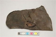 Medieval leather mittens at the Historiska Museet (Sweden)