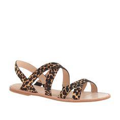 Mackenzie calf hair sandals, J. Crew $168... I wonder what these look like in person