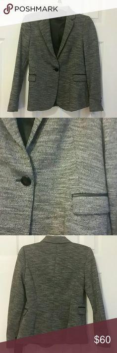Zara basics collection gray blazer xs Long sleeve. Single button. Back slit blazer. Front pocket detail. 3 black button on each wrist. Zara Jackets & Coats Blazers