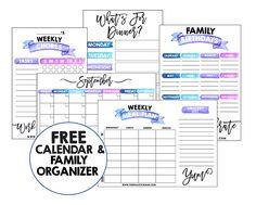 Free Family Organizer                                                                                                                                                                                 More