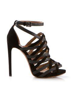 Azzedine Alaïa Sandals :: Azzedine Alaia black suede and galuchat sandals   Montaigne Market
