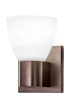 Hart Lighting 1021BZ LED wall sconce with 1191 etched white glass shade