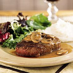 Filet Mignon with Mushroom-Wine Sauce | CookingLight.com