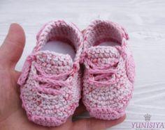 Botitas de bebé ganchillo zapatos de bebé del ganchillo