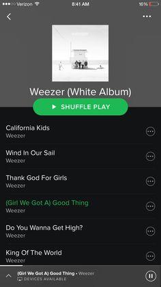 Werner - White Album is soooo good!! It's got that old Weezer feelzz #weezer