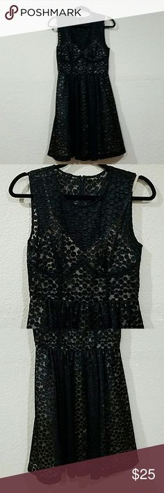 Anthropologie black polka dot dress Anthropologie black polka dot dress - worn once Tracy Reese Anthropologie Dresses