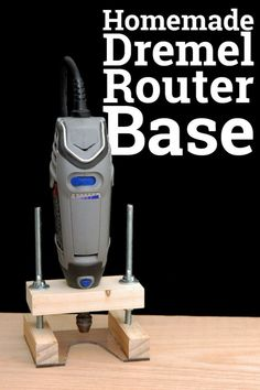 Do It Yourself Dremel Router Base. How I made a router base for my Dremel rotary tool. carving awesome Do It Yourself Dremel Router Base Easy DIY Woodworking Tools For Beginners, Woodworking Saws, Learn Woodworking, Wood Working For Beginners, Easy Woodworking Projects, Woodworking Techniques, Diy Wood Projects, Woodworking Furniture, Woodworking Patterns