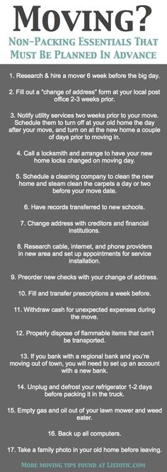 33+ Helpful Moving Tips Everyone Should Know! Including this handy checklist of important details not to forget. #moving #sellmyhouse #realestate