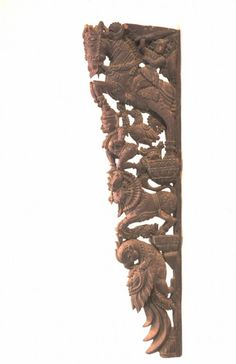 Asian Art Museum Online Collection Wood Carving Designs, Wood Carving Art, Wood Art, Main Door Design, Wooden Door Design, Wooden Brackets, Wall Brackets, Indian Home Interior, Indian Home Decor