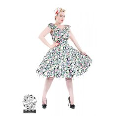 H&R Bleeding Rose Floral Dress - Rock Collection Strapless Dress, Prom Dresses, Formal Dresses, Bleeding Rose, H&r London, Slicked Back Hair, Swing Skirt, Wiggle Dress, Vintage Style Dresses