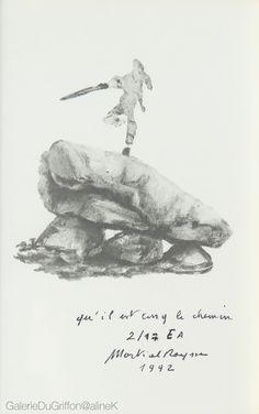 MARTIAL RAYSSE QU'IL EST LONG LE CHEMIN, 1992 Lithographie sur papier 10,5 x 16  cm Titrée, signée, datée et numérotée E.A. E/17