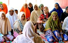 A community mental health nurse discussed stress management with women in a village near the town of Bireuen, on Aceh's east coast.