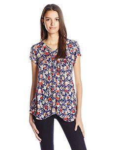 Lucky Brand Women's Multi Floral Print Top, Blue/Multi, Medium Lucky Brand http://www.amazon.com/dp/B017P13K0S/ref=cm_sw_r_pi_dp_ALb7wb18VPF00