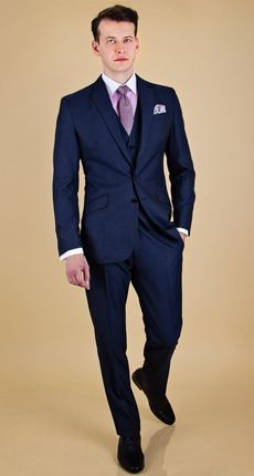 The Midnight Blue 3-Piece Suit | Dragon Inside | Wedding Suits ...