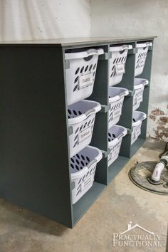 Use this simple DIY laundry basket dresser to keep your laundry room organized! Use this simple DIY laundry basket dresser to keep your laundry room organized! Laundry Basket Holder, Laundry Basket Dresser, Laundry Basket Organization, Laundry Room Storage, Laundry Room Design, Diy Storage, Diy Organization, Laundry Baskets, Laundry Closet