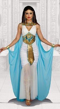 Adulto donna CLEOPATRA REGINA EGIZIANA DEA Intrecciato Libro Settimana Costume Parrucca