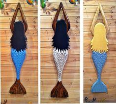 Mystical Mermaid Large set of 3 (wood) Pool Spa Deck Beach House sea ocean Tropical Beach Houses, Pool Spa, Sea And Ocean, Wall Sculptures, Mermaid, Deck, Wood, Shopping, Fashion
