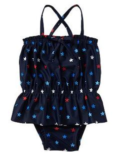 Baby Gap- Printed peplum one-piece- Fourth of July