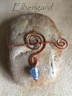 Brosche Fibel Pin Wire Copper von Elbengard auf DaWanda.com
