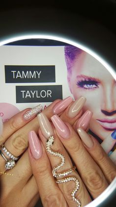 Tammy Taylor South-Africa  #tammytaylornails #tammytaylornailssouthafrica  Call : +27835989160 Using : Blush Tones soft silk and Party girl mix with W2.