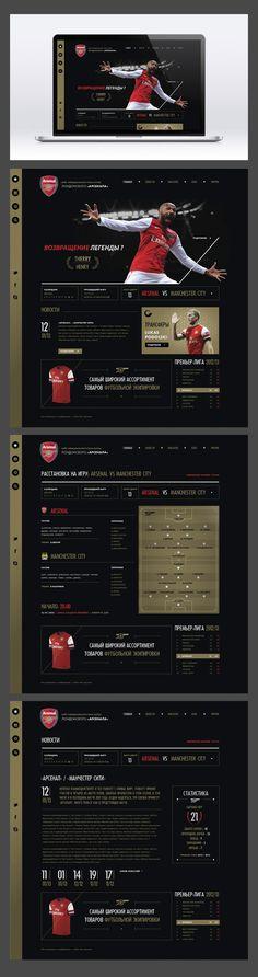 Arsenal by Nicolai Bashkirev, via Behance, #it #web #design #layout #userinterface #website #webdesign <<< repinned by www.BlickeDeeler.de Follow us on www.facebook.com/BlickeDeeler