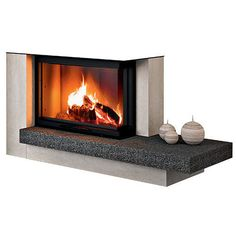 Revestimiento de chimenea moderno / de piedra / de acero / de esquina - RIMINI - MCZ Spa, Home Appliances, Wood, Home Decor, Log Burner, Contemporary Fireplaces, Houses, Point Of Sale, Steel