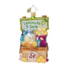 The Christopher Radko Lemonade for Sale! Ornaments is part of the 2013 Toys & Games Collection of Radko Ornaments.