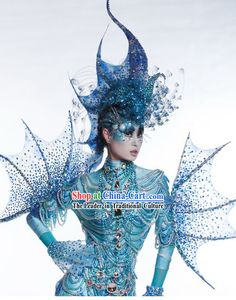 Sea Monster Costume | Category: Chinese Dance Costume Costumes Dresses Ribbon Dance Fan ...