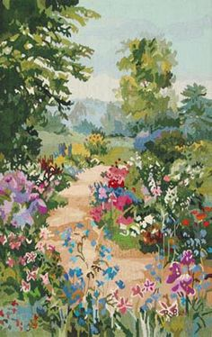 Ruth Basler Burr, American artist: Path To Meadow