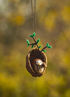 owl in nut by themimiclothingshop on Etsy