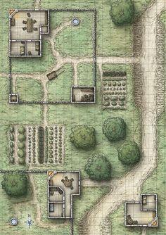 Grundriss einer Farm