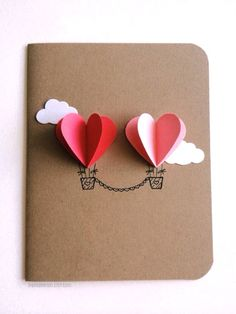Adorable Valentines Day Handmade Card Ideas for Long Distance Relationship                                                                                                                                                                                 More