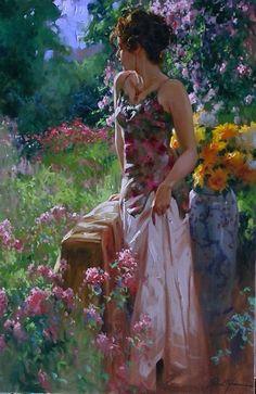 Женское очарование в картинах Richard S. Johnson