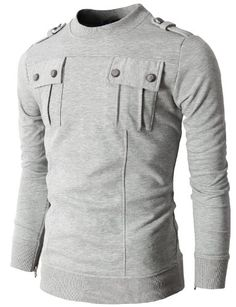 Mens T-shirts with Two Pocket and Shoulder Epaulet Casual Outfits, Men Casual, Fashion Outfits, Casual Clothes, Camisa Polo, Mens Clothing Styles, Shirt Designs, Menswear, Mens Fashion