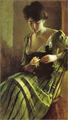 John White Alexander (1856-1915) A Rose